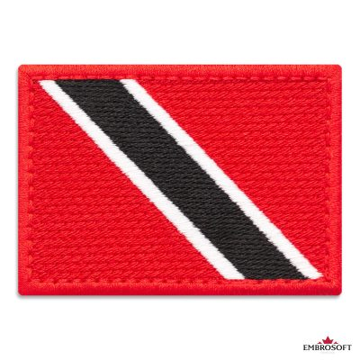 Flag of Trinidad and Tobago Embroidered Patch (2.8″ × 2″) Flags of North America