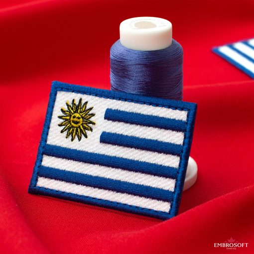 Flag of Uruguay Embroidered Patch (2.8″ × 2″) Flags of South America