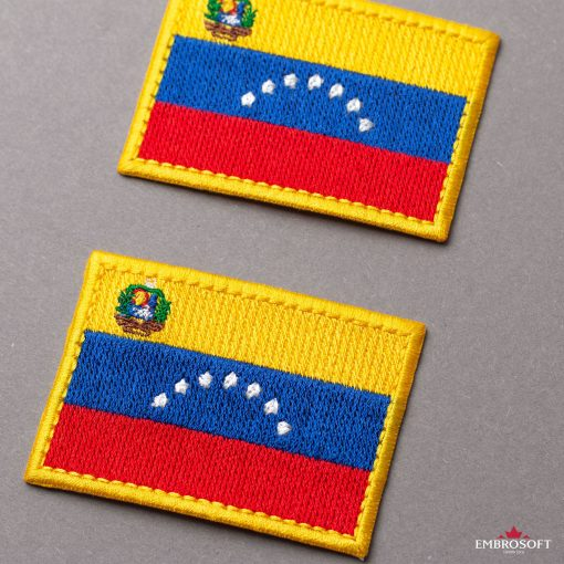 Flag of Venezuela Embroidered Patch (2.8″ × 2″) Flags of South America