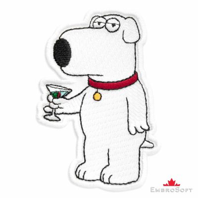 Family Guy Brian Griffin Embroidered Patch (2.5″ x 3.7″) Cartoons