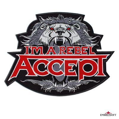 Accept Im a rebel logo embroidered patch