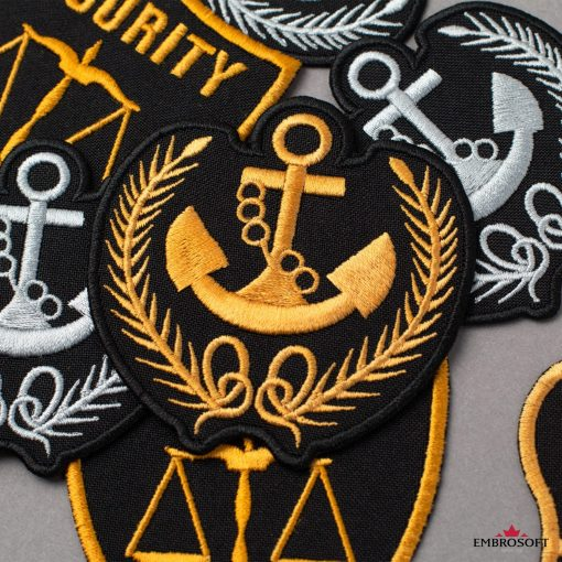 Anchor with Springs yellow jacket patch