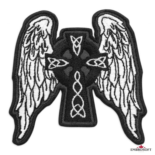 Celtic Cross with Wings