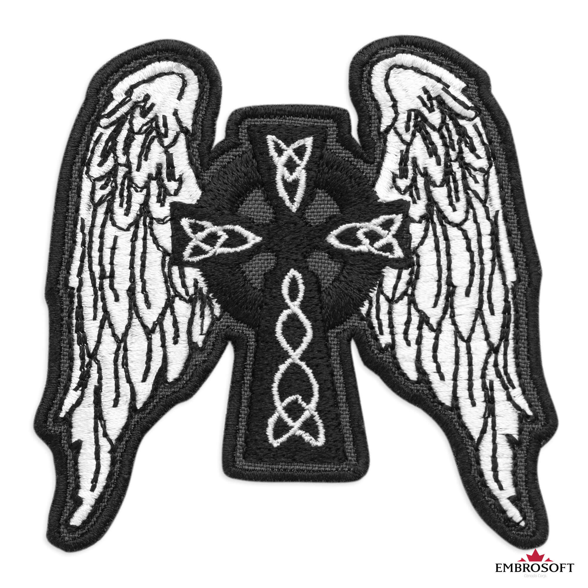 thermostick embroidery thermostick patch Winged cat crest