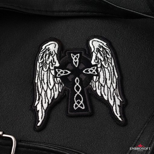 Celtic Cross with Wings small patch