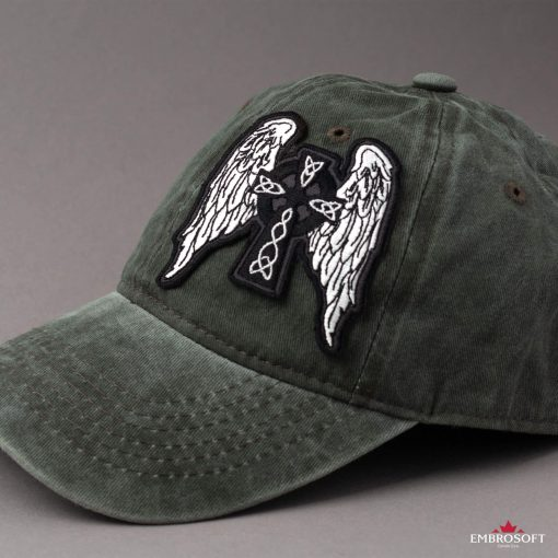 Celtic Cross with Wings Cap
