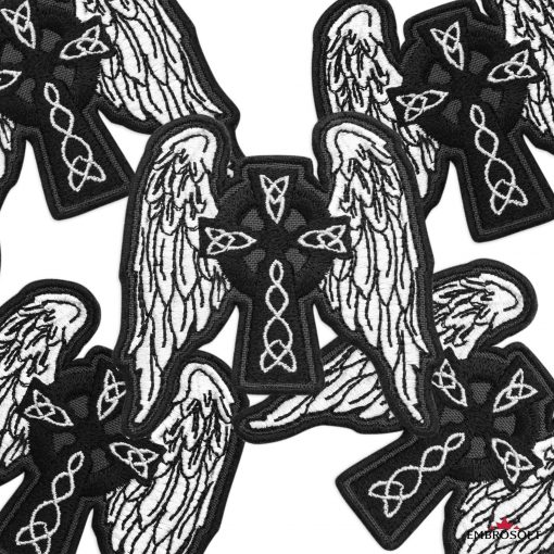 Ethnic Celtic Cross with Wings