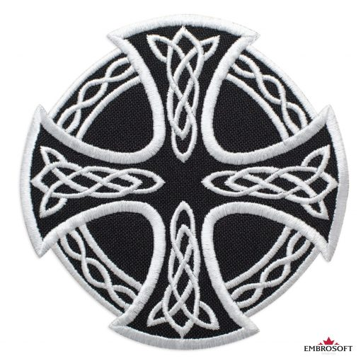 Cross and Circle with Celtic Pattern
