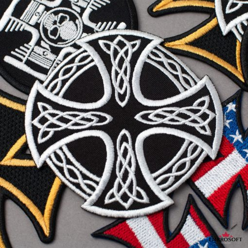Cross and Circle with Celtic Pattern Embroidery
