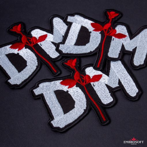 Depeche mode rose patch collage black background