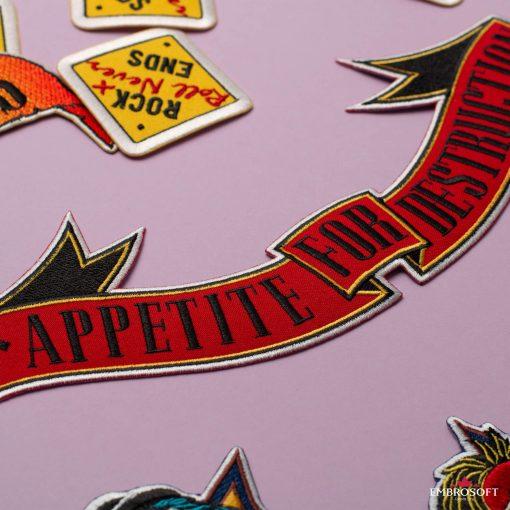 Rock Band patch Guns N Roses Appetite for Destruction