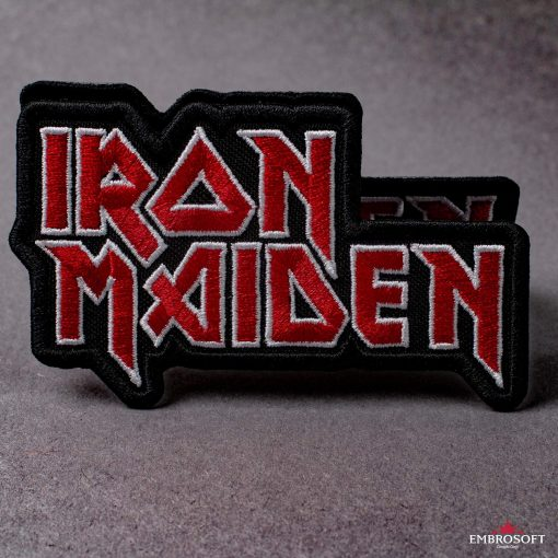 Iron Maiden logo embroidery