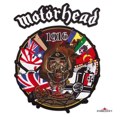 Motorhead big embroidered patch