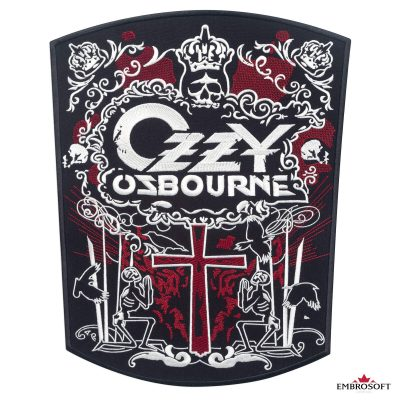 Ozzy Ozbourne embroidered patch