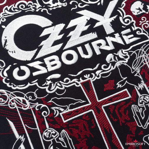 Ozzy Ozbourne embroidery