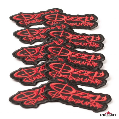 Ozzy Ozbourne Red Black rock band patch