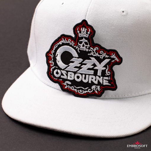 Ozzy Ozbourne Skull With Crown Cap White