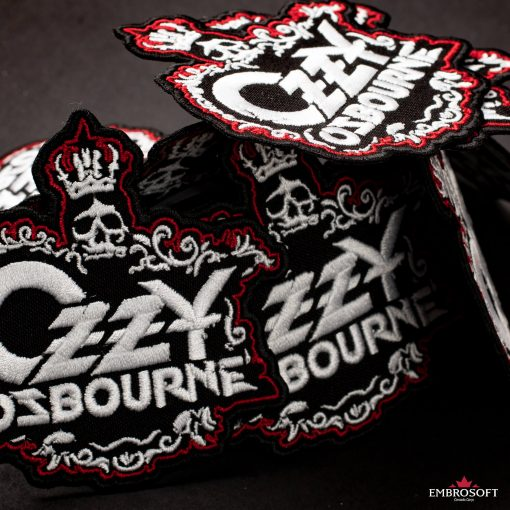 Ozzy Ozbourne Skull With Crown Emroidered patch