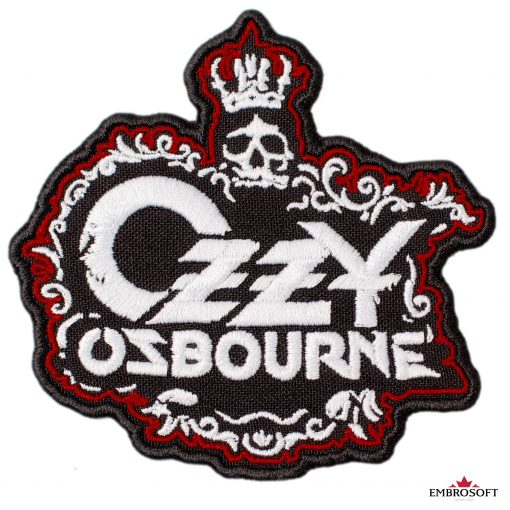 Ozzy Ozbourne Skull With Crown Frontal