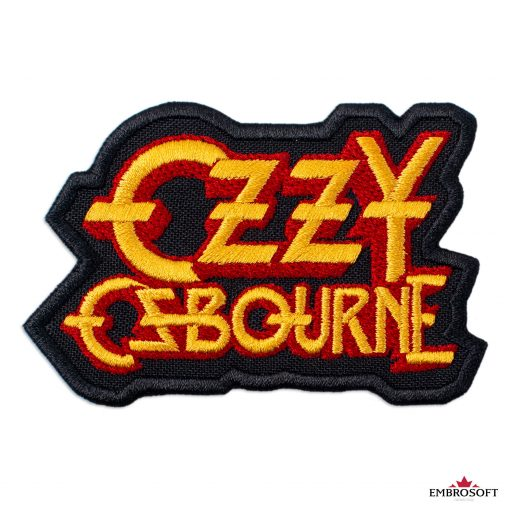 Ozzy Ozbourne Yellow red frontal logo