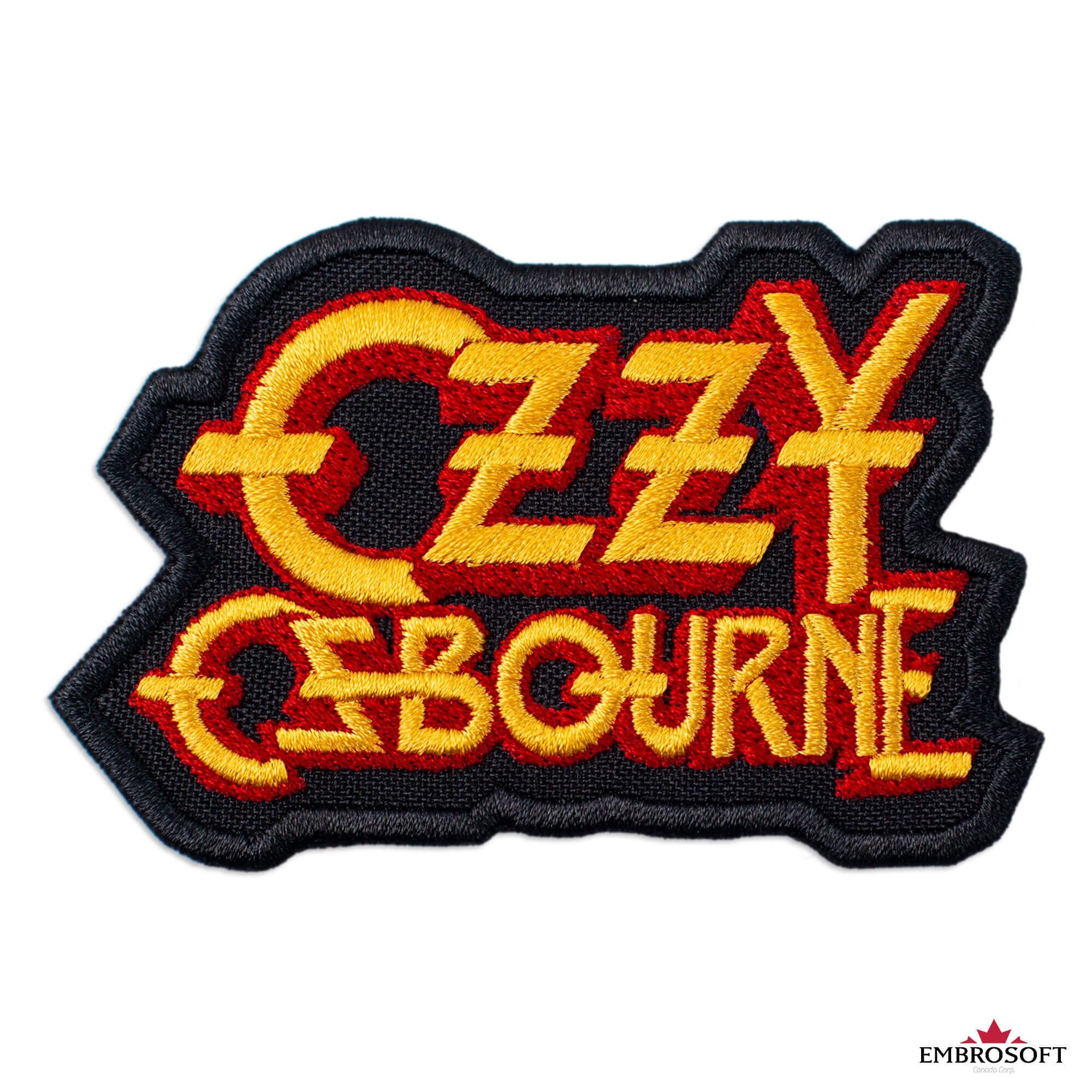 3.5 x 3.4 Crown Skull Heavy Metal Band//Embroidered//Iron On Ozzy Osbourne Patch Hard Rock