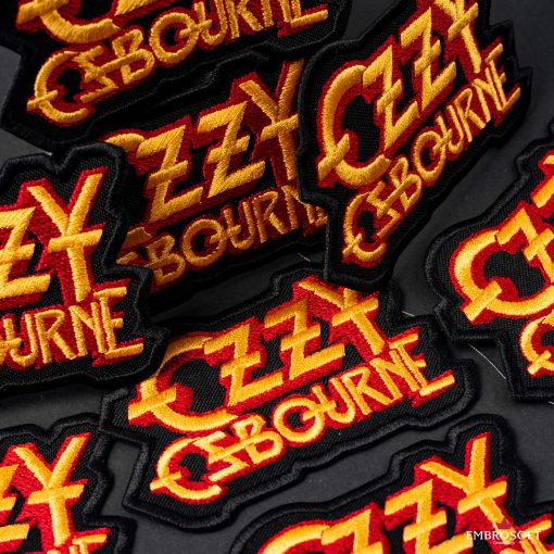 Ozzy Ozbourne Yellow red rock band paches