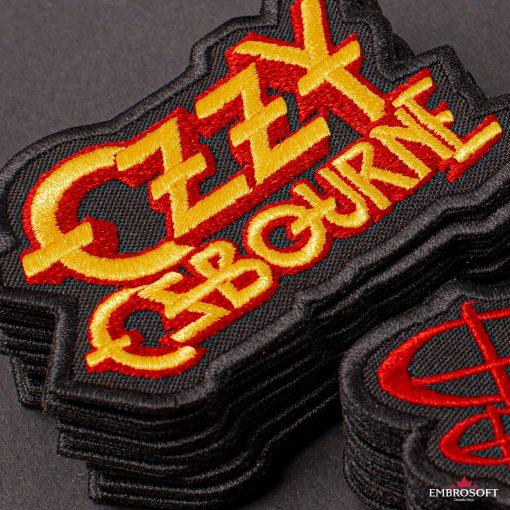Ozzy Ozbourne Yellow jeans patch
