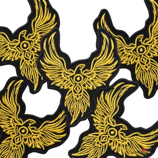 Phoenix embroidered patches