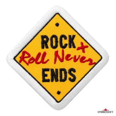 RockRoll never ends embroidery