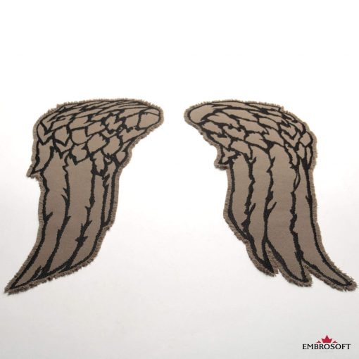 Embroidered The Walking Dead Wings