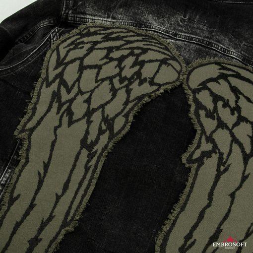 wings left jeans jacket
