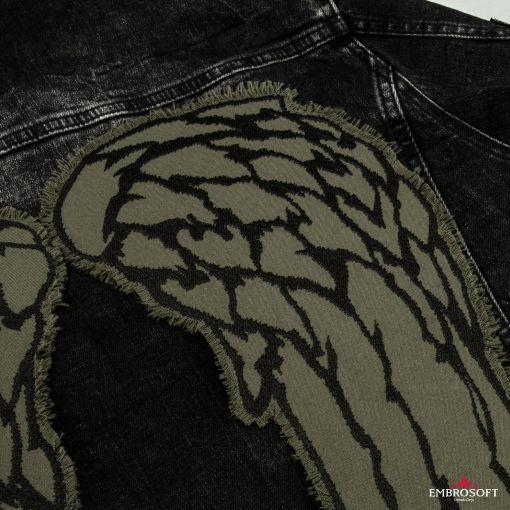 wings right jeans jacket