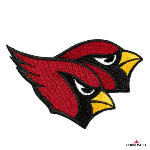 Arizona cardinals bird embroidery