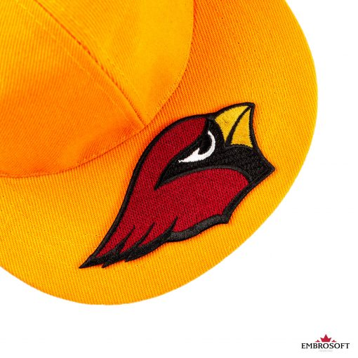 Arizona cardinals on an orange cap embroidery