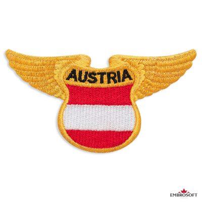 The flag of Austria