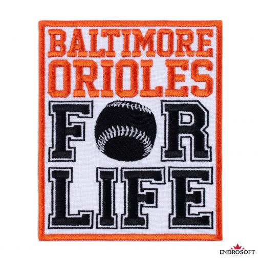 Baltimore Orioles logo patch for Life Frontal