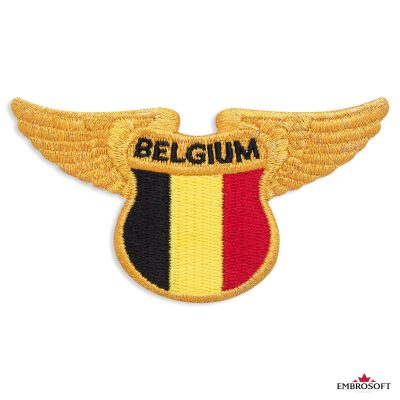 National flag of Belgium patch