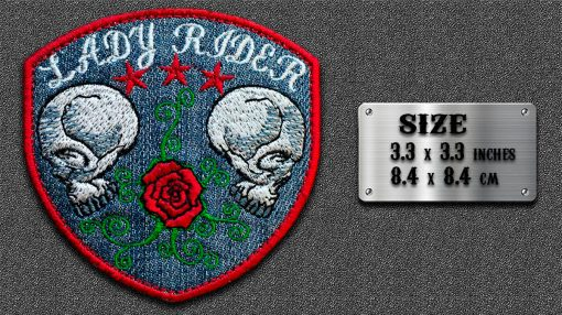 Biker patch Skull with a Shape
