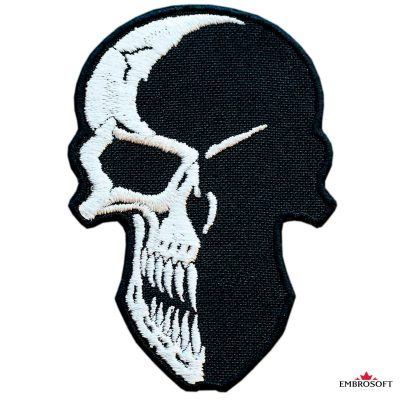 Biker embroidered patch Creative Skull
