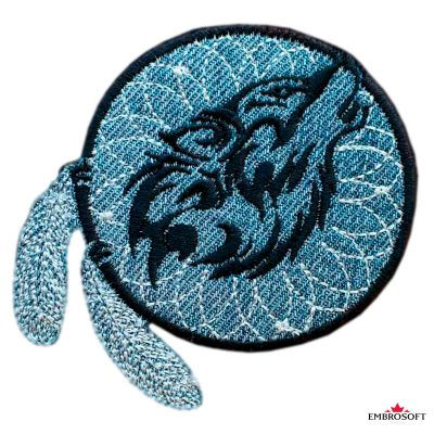 Biker patch Dreamcatcher Wolf