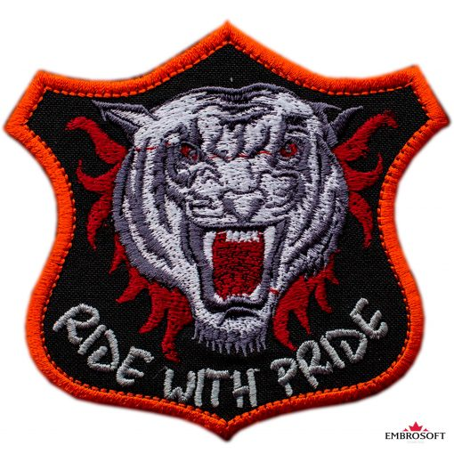 Biker embroidered patch Tiger Patch