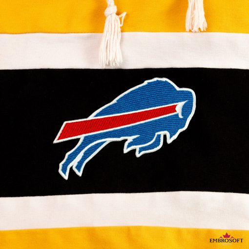 Buffalo Bills football team emblem on a hoodie black