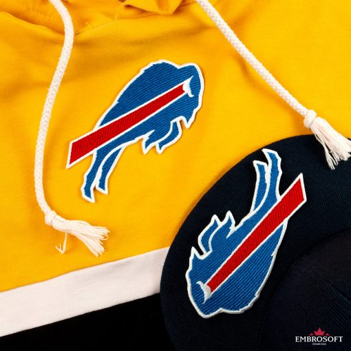 Buffalo Bills hoodie and cap patches