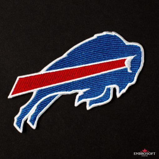 Buffalo Bills logo patch on Black background