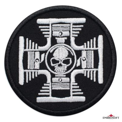 Cross with Skull in the Center patch