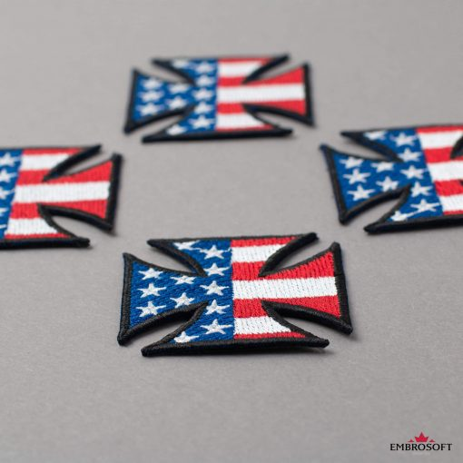 Cross with flag USA for jacket