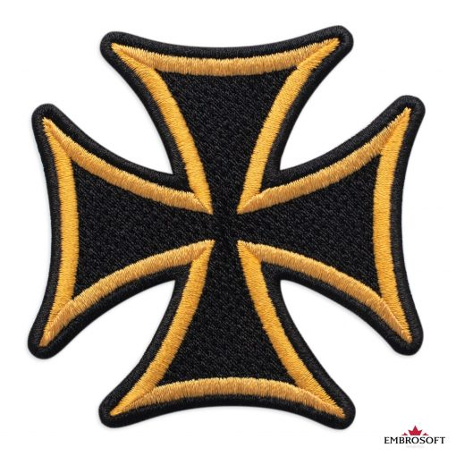 Cross with yellow border patch