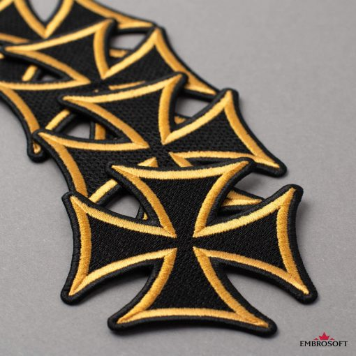 Embroidered Cross with yellow border