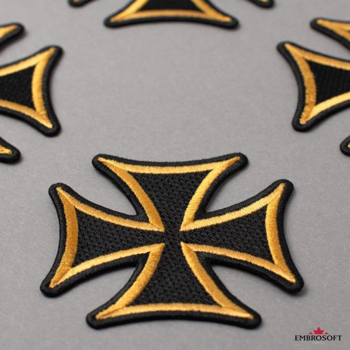 Cross with yellow border for backpacks