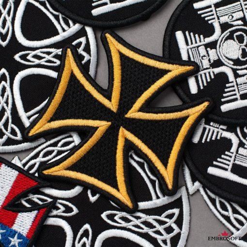Emblem Cross with yellow border